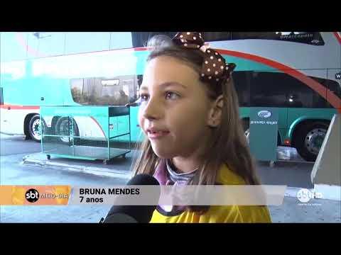 Campanha leva crianças à rodoviária para alertar passageiros sobre uso do cinto de segurança
