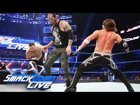 Sami Zayn vs AJ Styles vs Baron Corbin - US Title #1 Contender's Match: SmackDown LIVE, Apr 11, 2017