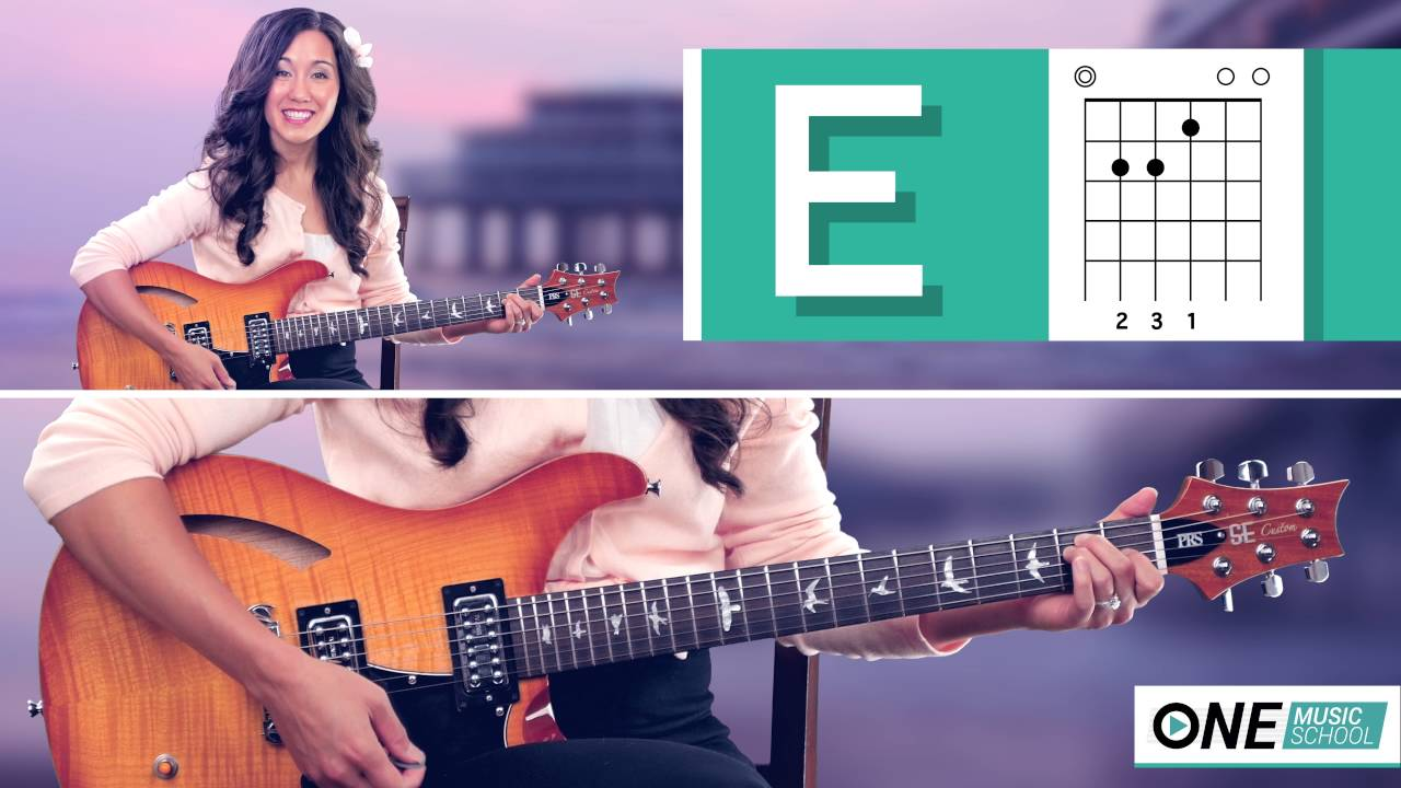 How To Play An E Chord On Guitar Youtube