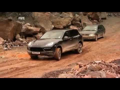 fifth gear porsche cayenne turbo vs audi q7 v12 tdi youtube. Black Bedroom Furniture Sets. Home Design Ideas