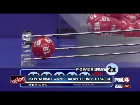 Powerball Jackpot climbs to $430 Million