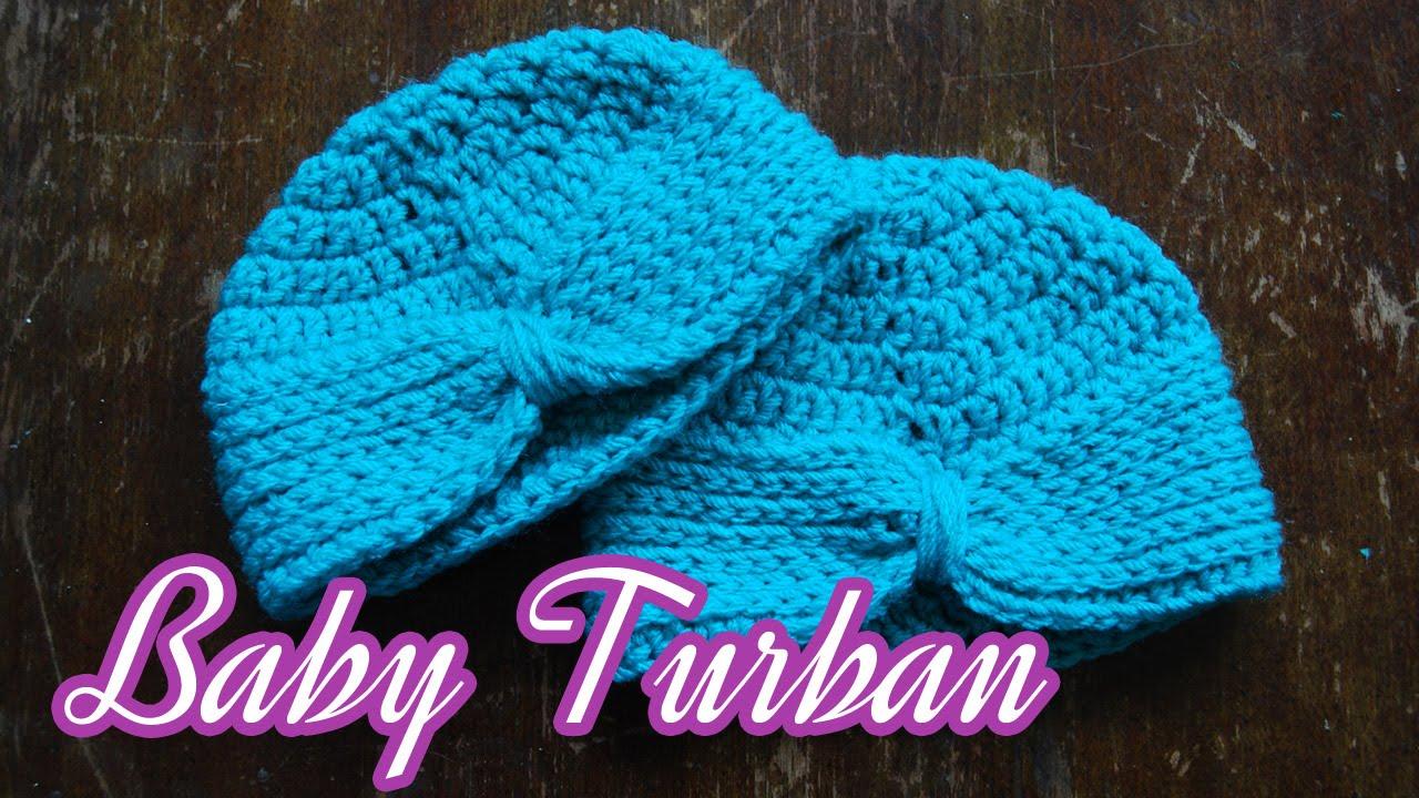 Crochet baby turban youtube crochet baby turban baditri Images