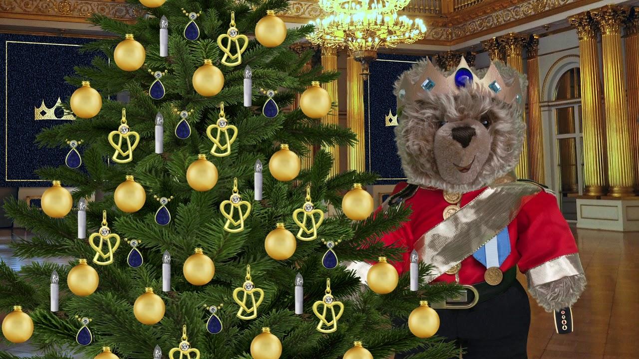 Wer Schmückt Den Weihnachtsbaum.Teddybär König Opa Schmückt Den Weihnachtsbaum 27