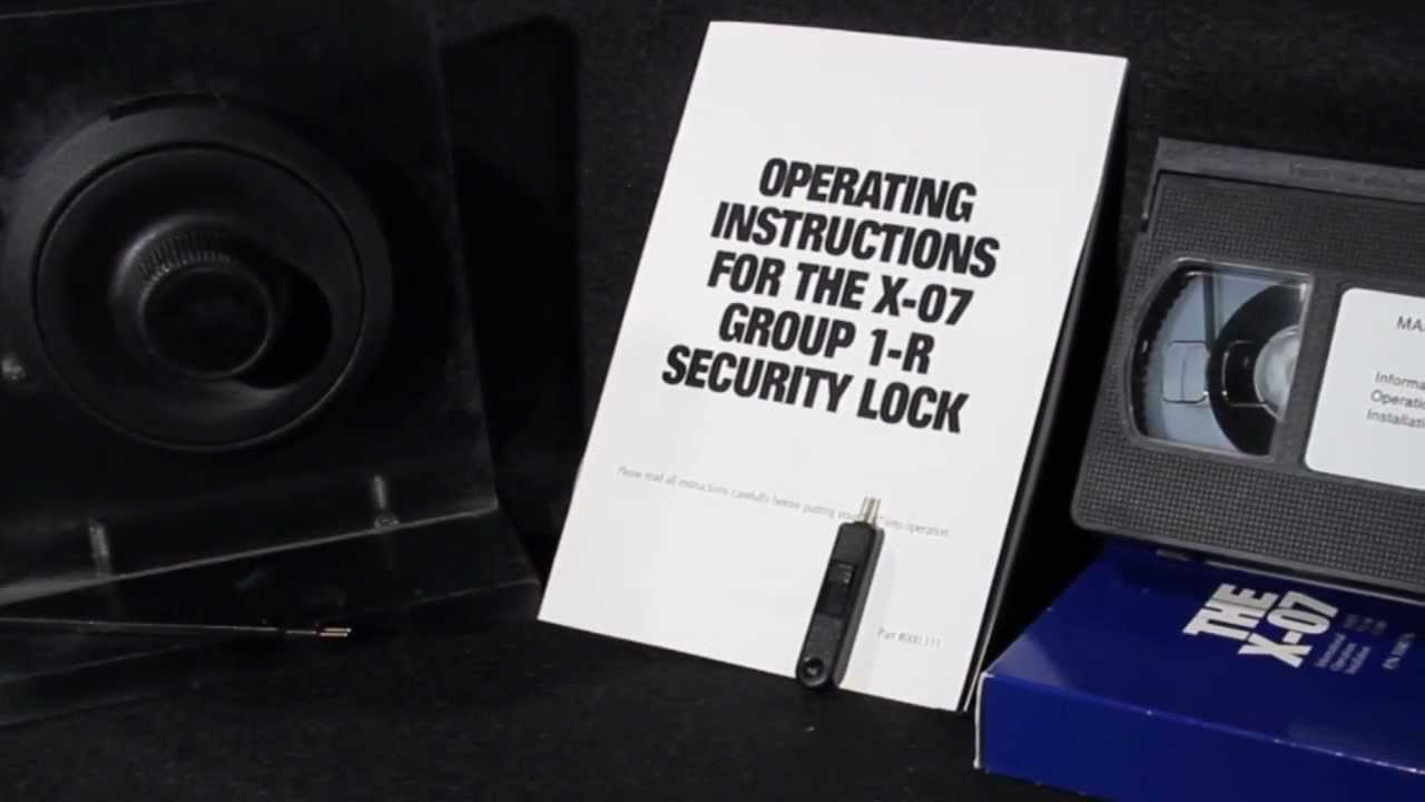 X 07 Lock Tutorial Change The Combination Open A Gsa Approved