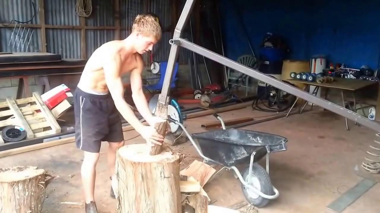 Build a manual log splitter.