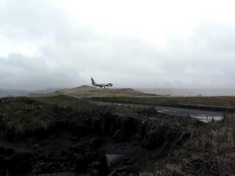 Landing at Adak, Alaska