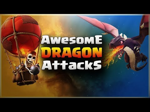 Awesome DRAGON Attacks | Top 3 Star Attack | TH11 War Strategy #121 | COC 2017 |