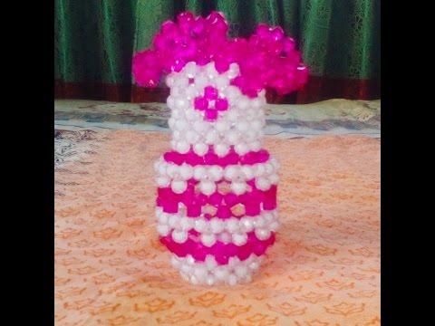 How To Make Beaded Flower Vasediy Flower