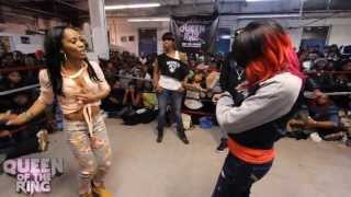BABS BUNNY & VAGUE presents QUEEN OF THE RING STAR GIRL LADY RED vs MS QUEEN