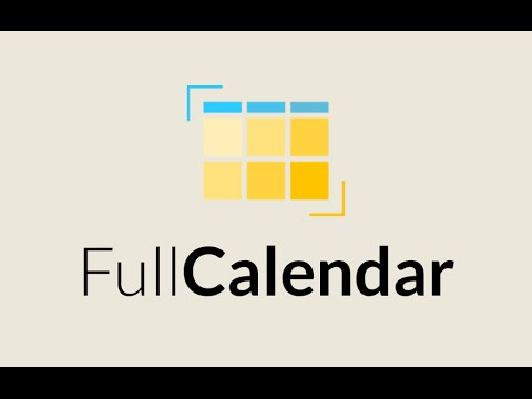 Episode #042 - FullCalendar Events and Scheduling
