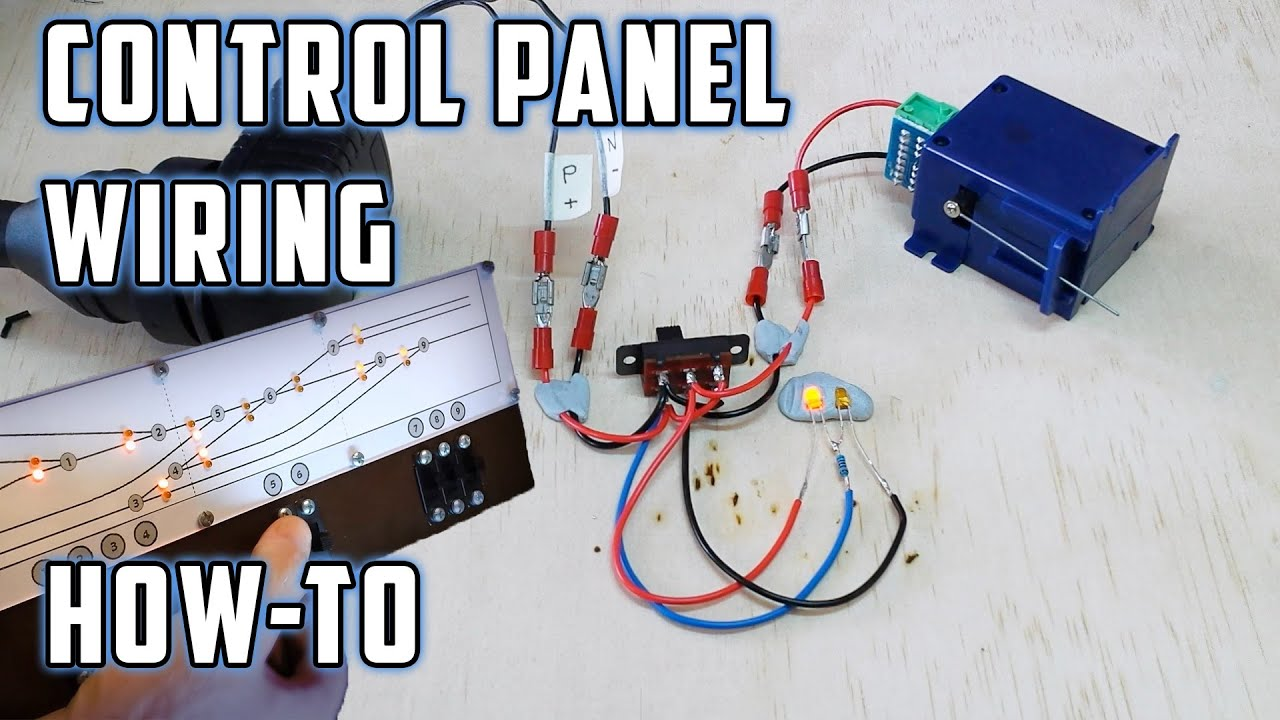 control panel wiring with led s how to model railroads [ 1280 x 720 Pixel ]