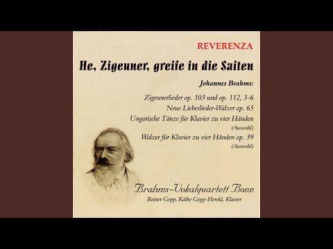 Zigeunerlieder, Op. 103: No. 6, Röslein dreie in der Reihe