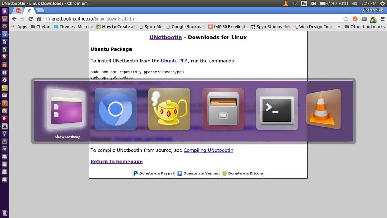 unetbootin sous linux