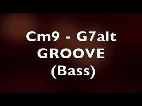 Jazz Funk Fusion Bass Backing Track (Cm9 - G7alt)
