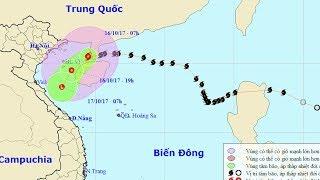 Tin Thời Sự Hôm nay (11h30 - 16 /10/2017) : Bão số 11 tiến gần bờ, giật cấp 13 Cảnh Báo Thiên Tai