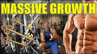 3 Keys to Massive Muscle Growth