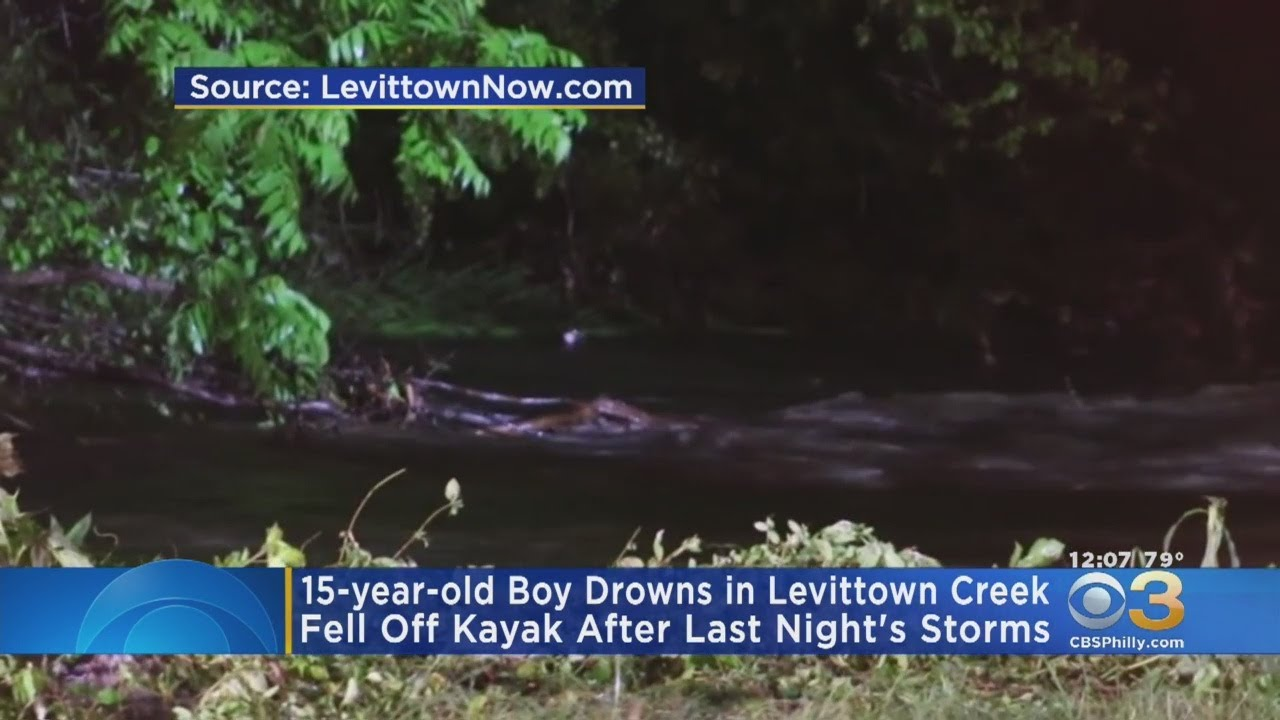 15-Year-Old Drowns In Levittown Creek During Storm