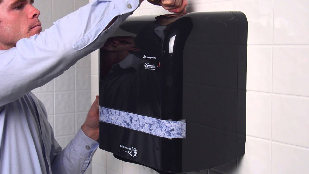 Cormatic Automatic Towel Dispenser Loading Instructions YouTube