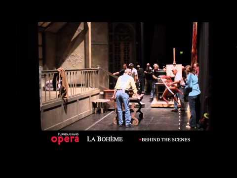 Behind the scenes of La bohème, Florida Grand Opera