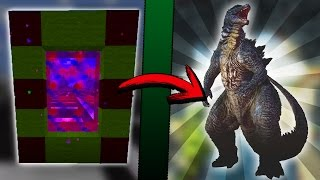 Minecraft COMO hacer un PORTAL a la DIMENSION de GODZILLA | COMO HACER UN PORTAL DE GODZILLA