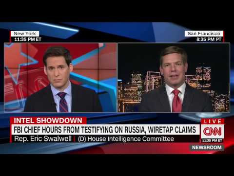 Rep. Swalwell on CNN discussing Intelligence Committee hearing on Trump-Russia ties