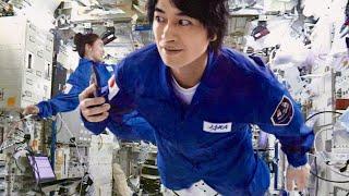 ビビってる?斎藤工&泉里香が宇宙飛行士なりきり無重力空間で浮遊/Indeed CM