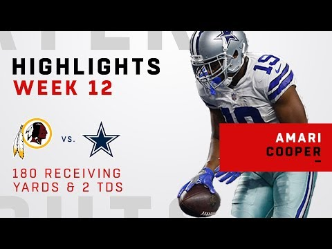 Amari Cooper Cuts Through Washington w/ 180 Yards & 2 TDs!