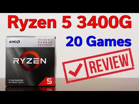 Ryzen 5 3400G — 20 Games Tested — No Graphics Card Required!
