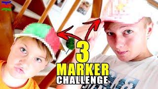 3 MARKER CAPPY Challenge (+ Insta Verlosung) 😁 TipTapTube Family 👨👩👦👦