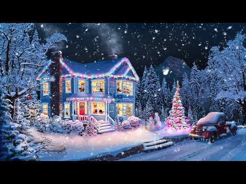 Christmas Music From Another Room - Relaxing Christmas Ambience with Muffled Christmas Music