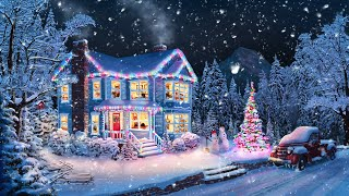Christmas Music From Another Room  Relaxing Christmas Ambience with Muffled Christmas Music