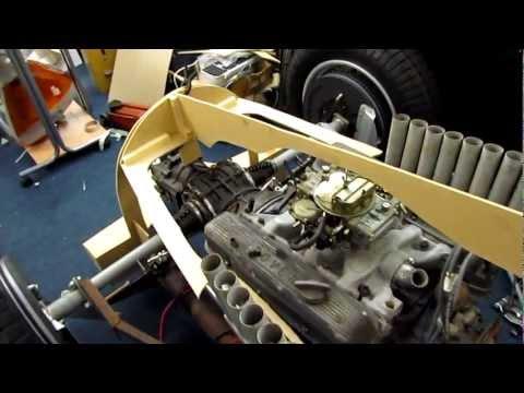 1936 Auto Union C Type under construction in my garage.