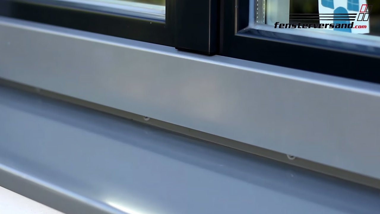 Fensterbank Anthrazit Aluminium Fensterbank Produktvideo Fensterversand Tv
