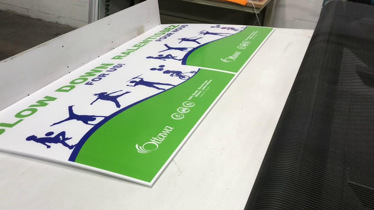 Screen printing coroplast signs