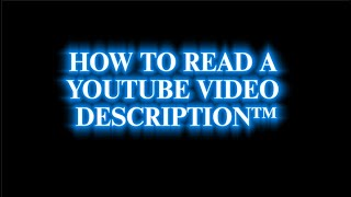 How To Read A YouTube Video's Description (For Desktop And Mobile)