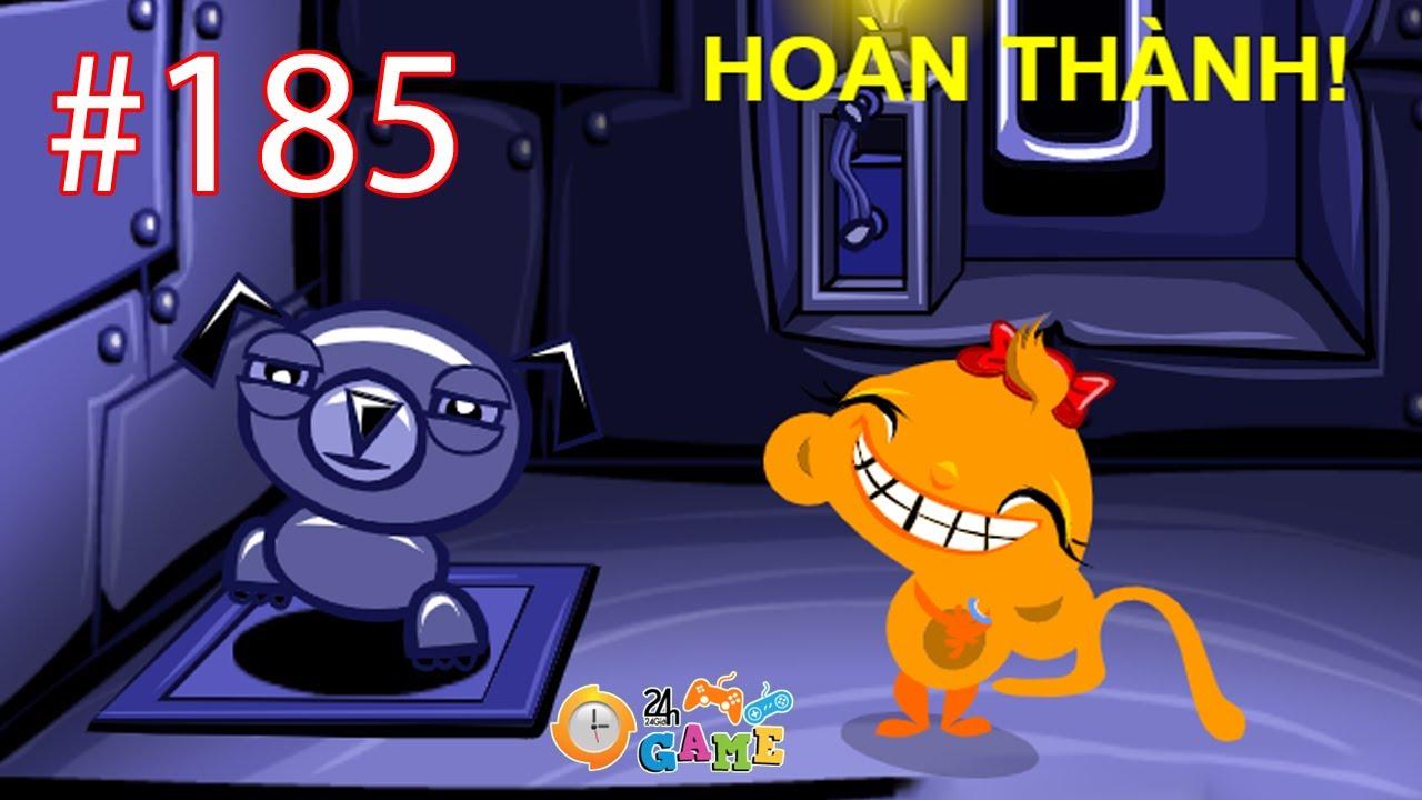 Chú Khỉ Buồn 185 - Hướng Dẫn Cách Chơi Game Chú Khỉ Buồn 185