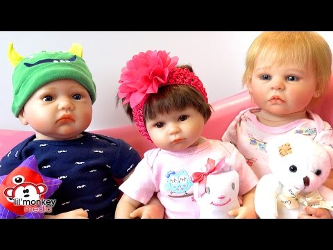 My Reborns!  New Baby Girl & Lunch Routine!