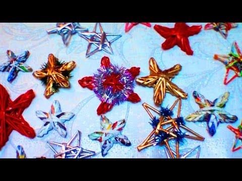 Como tejer los adornos navidenos de papel reciclado parte 4 viyoutube - Los adornos navidenos ...