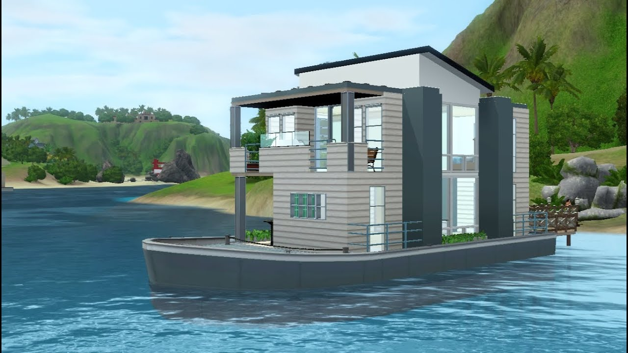 Sims 3 Building A Small House Boat   YouTube