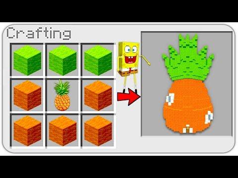 HOW TO CRAFT a Spongebob Squarepants House in MINECRAFT? SECRET RECIPE