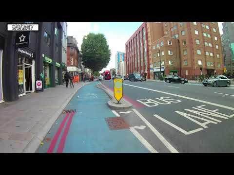 Cheapside to Mile End Station using CS3 and CS2 on an eBike.
