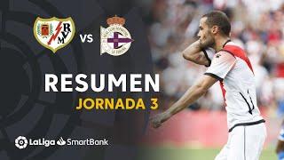 Resumen de Rayo Vallecano vs RC Deportivo (3-1)