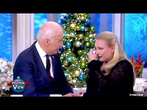 Meghan McCain Gets Emotional With Joe Biden - The View