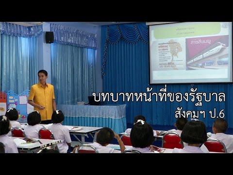 สังคมฯ ป.6 บทบาทหน้าที่ของรัฐบาล ครูอนุวัฒิ ศรีสระน้อย