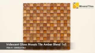 Iridescent Glass Mosaic Tile Amber Blend 1x1 - 120KELU11BL1
