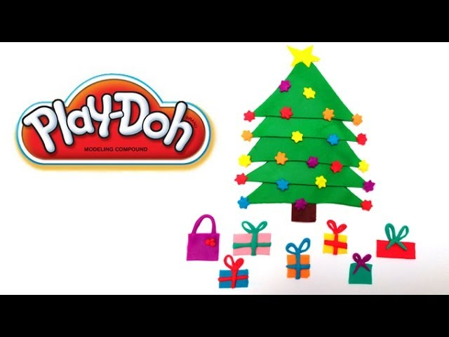 Play Doh Christmas Tree Play Dough Christmas Tree Playdoh Árbol de Navidad Travel Video