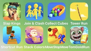 Slap Kings, Join Clash 3D, Collect Cubes, Shortcut Run, Stack Colors, Move Stop Move, Tom Gold Run
