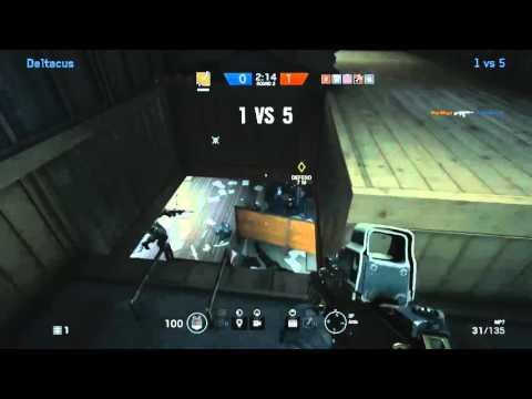 R6S Hostage 1 vs 5 comeback