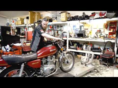 Motor Swap on a Vintage Motorcycle - TimeLapse