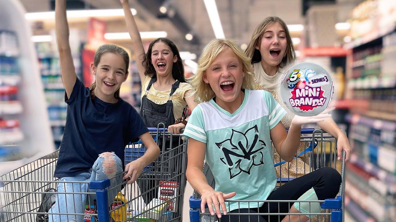 Mini Brands Vs Big Brands Shopping Challenge!